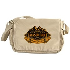 Jackson Hole Mountain Emblem Messenger Bag