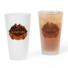 Jackson Hole Mountain Emblem Drinking Glass