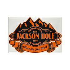 Jackson Hole Mountain Emblem Rectangle Magnet