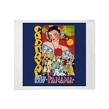 1937 Panama Carnival Throw Blanket