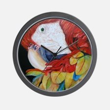 3-Scarlet Macaw.jpg Wall Clock