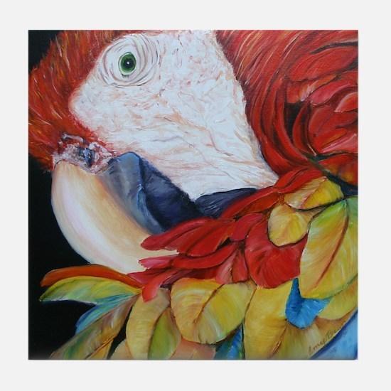3-Scarlet Macaw.jpg Tile Coaster