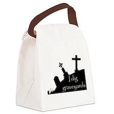i dig graveyards Canvas Lunch Bag