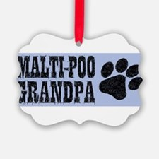 Maltipoo Grandpa Ornament