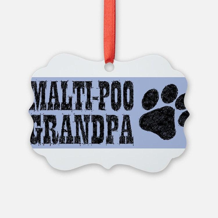 Maltipoo Grandpa Ornament