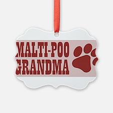 Malti-Poo Grandma Ornament