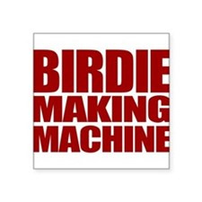 "BirdieRed.gif Square Sticker 3"" x 3"""