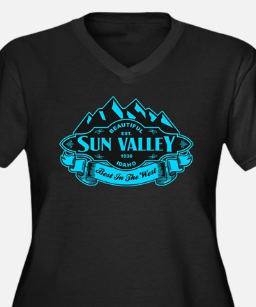 Sun Valley Mountain Emblem Women's Plus Size V-Nec
