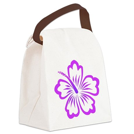 Hibiscus-purple.png Canvas Lunch Bag