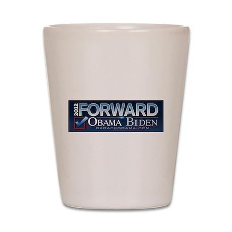 FORWARD Obama Biden 2012 Shot Glass