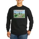 Snoring or Earthquake Long Sleeve Dark T-Shirt