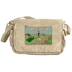 Snoring or Earthquake Messenger Bag