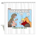Dog Care Shower Curtain