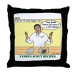 Foil Dinners Throw Pillow
