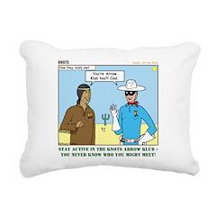 Arrow Club Rectangular Canvas Pillow