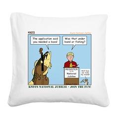 Knots Jamboree Square Canvas Pillow