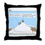 Latrine Location Throw Pillow