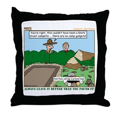 Clean Campsite Throw Pillow