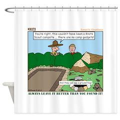 Clean Campsite Shower Curtain