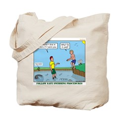 Safe Swim Tote Bag
