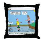 Safe Swim Throw Pillow