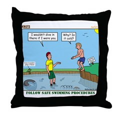 Safe Swim Throw Pillow