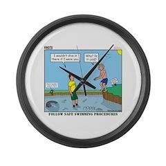 Safe Swim Large Wall Clock