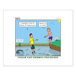 Safe Swim Small Poster