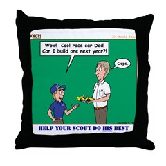 Derby Dad Throw Pillow
