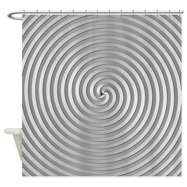 Silver Spiral Shower Curtain By Expressivemind