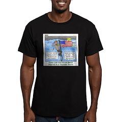 Thunderstorm Men's Fitted T-Shirt (dark)