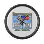 Thunderstorm Large Wall Clock