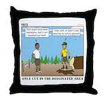 Axe Safety Throw Pillow