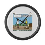 Axe Safety Large Wall Clock