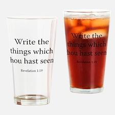Revelation 1:19 Drinking Glass