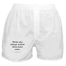 Revelation 1:19 Boxer Shorts