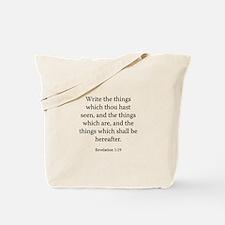 Revelation 1:19 Tote Bag