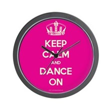 Keep Calm and Dance On Wall Clock