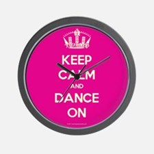 Keep Calm and Dance On Wall Clock