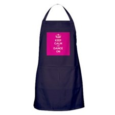 Keep Calm and Dance On Apron (dark)