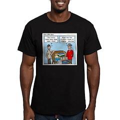 Clean Men's Fitted T-Shirt (dark)