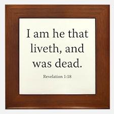 Revelation 1:18 Framed Tile