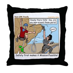 Friendly Throw Pillow