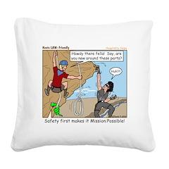 Friendly Square Canvas Pillow
