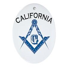 California Freemason Ornament (Oval)