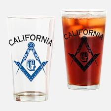 California Freemason Drinking Glass