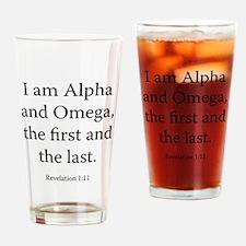 Revelation 1:11 Drinking Glass