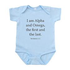 Revelation 1:11 Infant Bodysuit