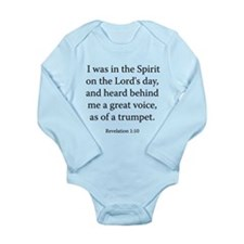 Revelation 1:10 Long Sleeve Infant Bodysuit