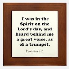 Revelation 1:10 Framed Tile